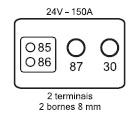 RELE AUXILIAR DE PARTIDA RA1024C 150A NA 24V  C/ CONECTOR