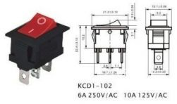 CHAVE GANGORRA KCD1-102 VM 3T ON/OFF