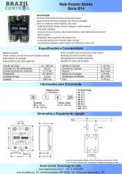 RELE ESTADO SOLIDO B14-80 80AMP ENT. 3-32VDC SAIDA 480VAC