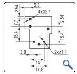 RELE DE POTENCIA INDUSTRIAL YA224-C-S 12VDC NA/NF 40/30A SELADO