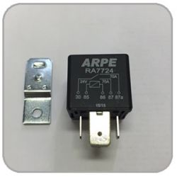RELE AUXILIAR 24V NA/NF 70/70A 5 PINOS RA7724S