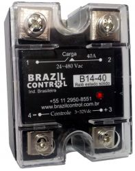 RELE ESTADO SOLIDO B14-40 40AMP ENT. 3-32VDC SAIDA 480VAC