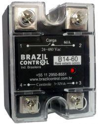 RELE ESTADO SOLIDO B14-60 60AMP ENT. 3-32VDC SAIDA 480VAC