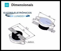 TERMOSTATO BIMETALICO 100º NF 10A 250V C/ FLANGE