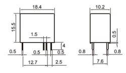RELE MINI INDUSTRIAL YA305-C-12VDC NA/NF 5A SELADO