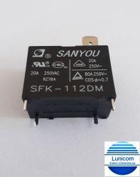 RELE SANYOU SFK-112DM 12V 20A/250VAC P/ AR CONDICIONADO