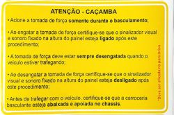 ALARME DE CAÇAMBA LEVANTADA MOC12-24V C/ PRESSOSTATO