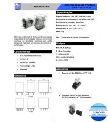 RELE ICR 6532.9024 2 CONT. REV. 24VDC 5AMP/250V S/ MARCAÇÃO