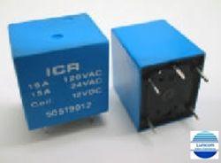 RELE ICR 5051.9012  NA/NF 12VDC 15A/250V 5PINOS C/10PÇS