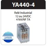 RELE ARPE INDUSTRIAL YA440-4 12VDC  5A 4NA/4NF