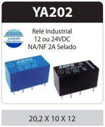 RELE ARPE INDUSTRIAL YA202 12V 2AMP 2NA/2NF SELADO