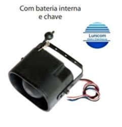 SIRENE ELETRONICA AS614CH 1 TOM 12VDC C/ CHAVE