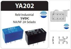 RELE ARPE INDUSTRIAL YA202 5V 2AMP 2NA/2NF SELADO