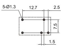 RELE MINI INDUSTRIAL YA305-C-24VDC NA/NF 5A SELADO