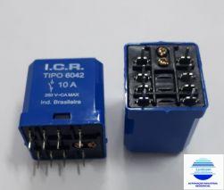 RELE DE POTENCIA ICR 6042.8220 2CT REV 10A 220VAC  P/ CIRCUITO IMPRESSO