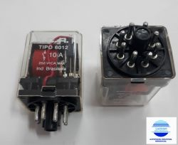 RELE ICR 6012.8012 12VAC 2 CONT. REV. 10A/250V