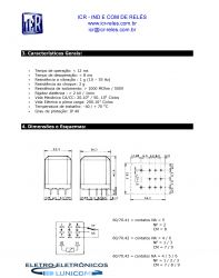 RELE DE POTENCIA ICR 6043.8220 3CT REV 10A 220VAC  P/ CIRCUITO IMPRESSO