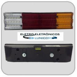 LANTERNA LED  6824C 24V COM CONECTOR  60 LEDS P/ CAMINHÃO