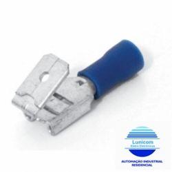 TERMINAL MACHO E FEMEA MF4229 6,3MM 1,1-2,6MM C/100PÇS