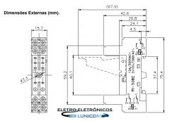 RELE INTERFACE 2 CONT. 8A / 250Vca – BOB. 230Vac
