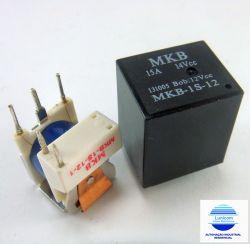 RELE INDUSTRIAL MKB-1S 12VDC 1 REV. NA 15A SELADO ( DUCATO, SPRINT)