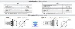 SINALEIRO L20-R7-R 22MM 24VAC/DC VERMELHO IP65