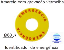 IDENTIFICADOR DE EMERGÊNCIA P20-IDEM  P/ BOTOES M20/P20