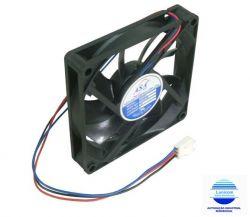 MINI VENTILADOR ASA-8015DV-HB 80X80X15 12V C/ ROLAMENTO 3700RPM
