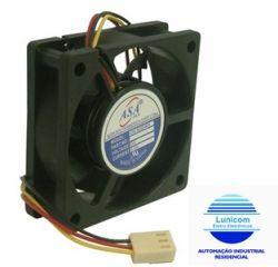 MINI VENTILADOR ASA-6020HB-24 60x60x20 24V C/ ROLAMENTO 4500RPM