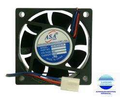 MINI VENTILADOR ASA-6025B-24 60x60x25 24V C/ ROLAMENTO 5000RPM