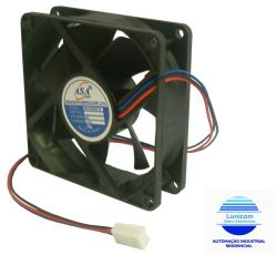 MINI VENTILADOR ASA-8025B-24 80X80X25 24V C/ ROLAMENTO 3800RPM