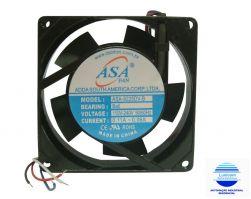 MINI VENTILADOR ASA-9225B  92X92X25  BIVOLT  C/ ROLAMENTO 3100RPM