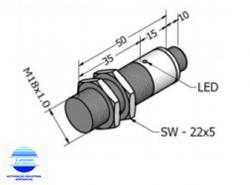 SENSOR INDUTIVO ECL8-18DP C4 PNP M18 FACEADO 8MM NA+NF CONEC.