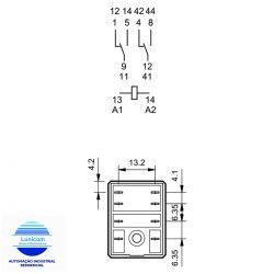 RELE FINDER 5532.9024.0040 2CT REV 24VCC 10AMP
