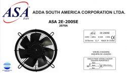 VENTILADOR AXIAL EXAUSTOR 200MM ASA2E-200SE 2070A  220V MONOFASICO