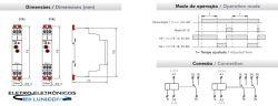 RELE TEMPORIZADOR DTR1-W RETARDO NA ENERG. 0,1SEG A 240HRS 12-240VAC/CC