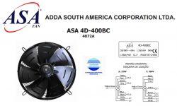 VENTILADOR AXIAL SOPRADOR 400MM ASA4D-400BC 7072A  220/380V TRIFASICO