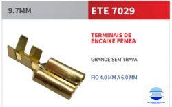 TERMINAL FASTON ETE7029 9,7MM FEMEA S/ TRAVA P/ FIO 4 A 6MM