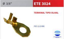 "TERMINAL OLHAL ETE3024 FURO 3/8"" (9,8MM) P/ FIO 12MM"