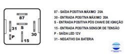RELE ELETRONICO RE15 12V COM SENSOR DE TENSAO
