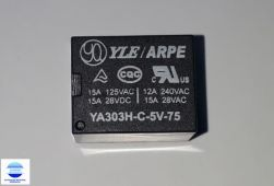 RELE INDUSTRIAL YA303H-C 5VDC NA/NF 15A 5 PINOS SELADO