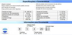 RELE ESTADO SOLIDO TRIFASICO B34-40A ENT. 3-32VDC SAIDA 480VAC 40A