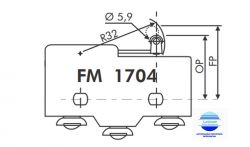 MICRO SWITCH FIM DE CURSO FM1704 15A/250V