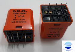 RELE DE POTENCIA ICR 6043.9024  3CT REV 10A 24VCC  P/ CIRCUITO IMPRESSO