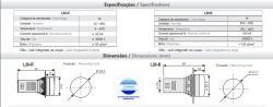 SINALEIRO L20-R9-GP 22MM 12V AC/DC VERDE IP65