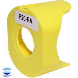 PROTETOR PLASTICO AMARELE P20-PA P/  BOTAO EMERCIA 22MM