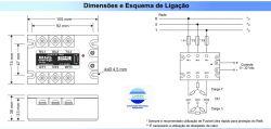 RELE ESTADO SOLIDO TRIFASICO B34-60A ENT. 3-32VDC SAIDA 480VAC 60A