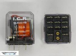 RELE DE POTENCIA ICR 6043.8110 3CT REV 10A 110VAC  P/ CIRCUITO IMPRESSO