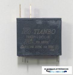 RELE REFRIGERAÇÃO / MICROONDAS TRA2F-12VDC 12V 16A/250VAC..