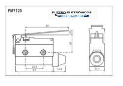 MICRO SWITCH FIM DE CURSO FM7120 10A/250V